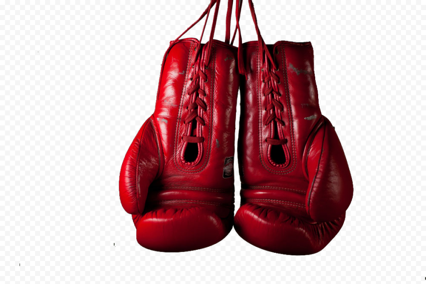 Hanging Everlast Red Boxing Gloves String