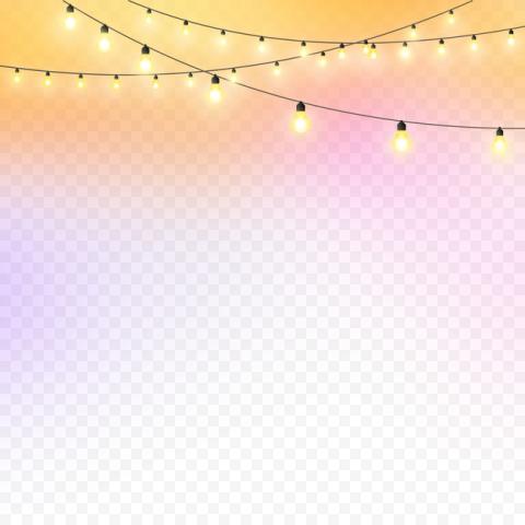 Hanging Night Bulb Light Yellow Celebration