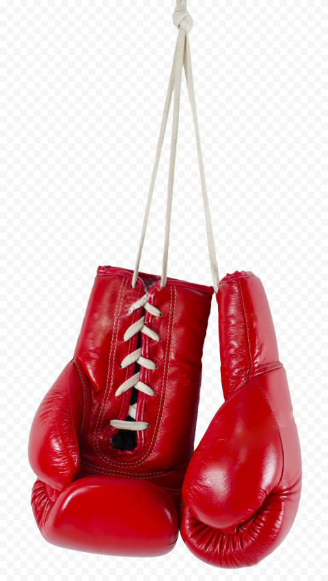 Hanging Up Red Boxing Gloves Box Pair Sport