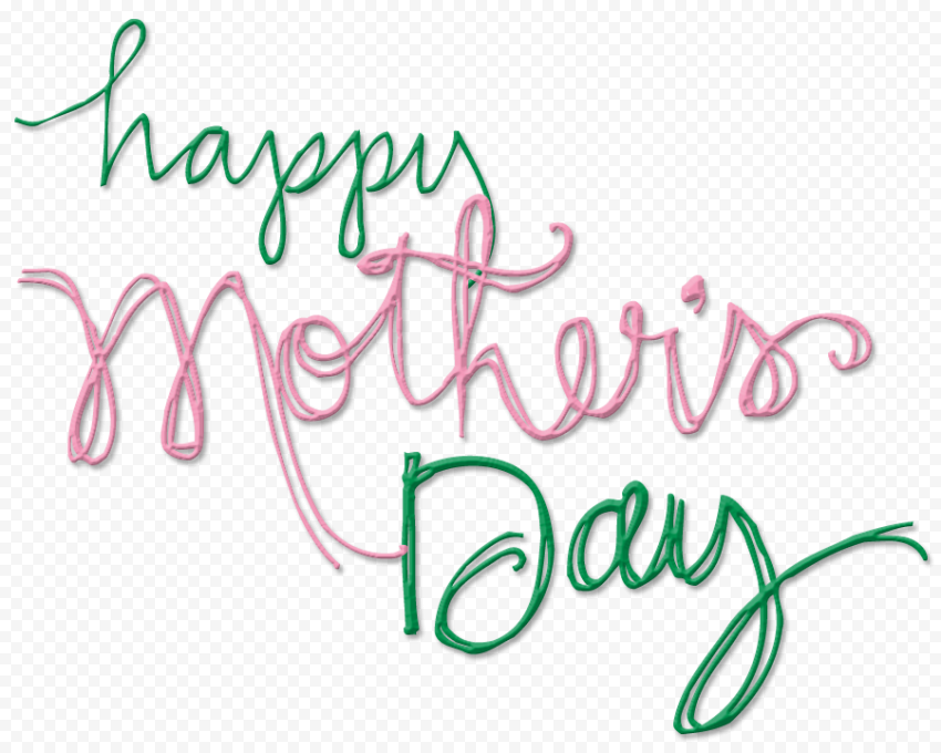 Happy Mother's day Green and Pink Text