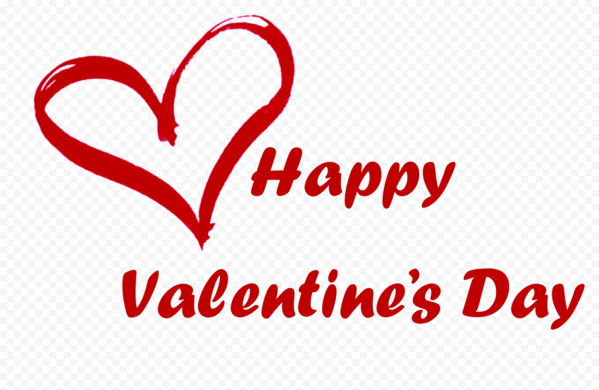 Happy Valentines Day Text Brush Effect