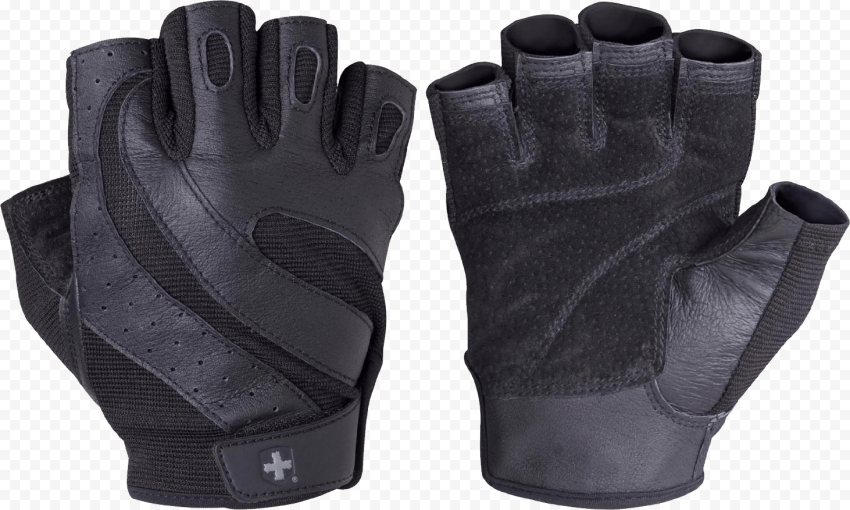 Harbinger Black Gym Bodybuilding Gloves