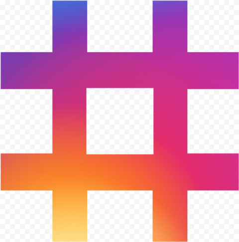 Hashtag Instagram Gradient Colors