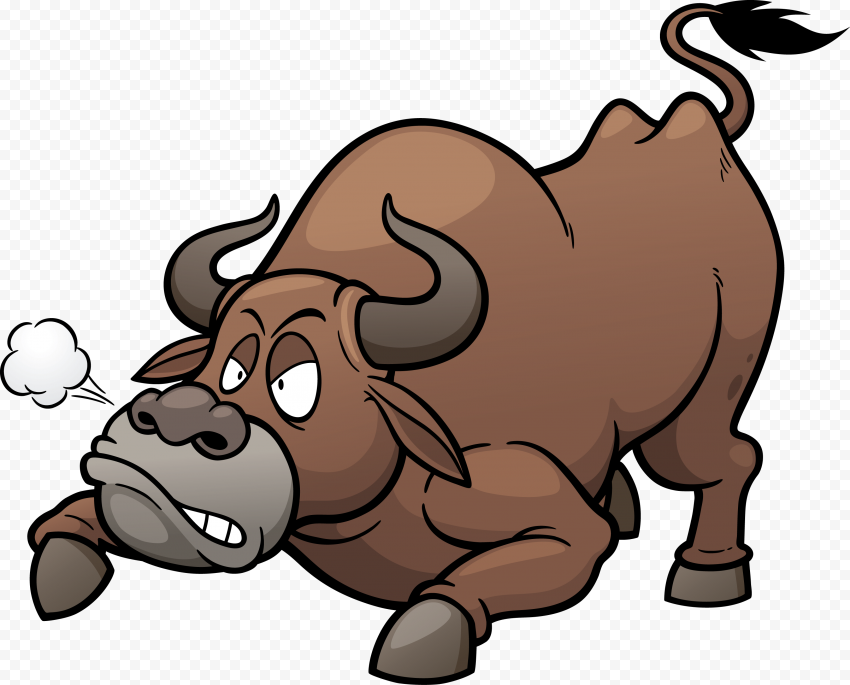 HD Angry Bull Cartoon Character PNG