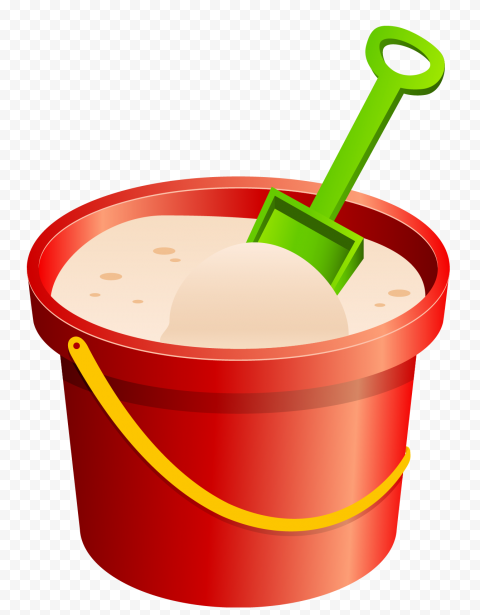 HD Beach Bucket Sand For Kids Illustration PNG
