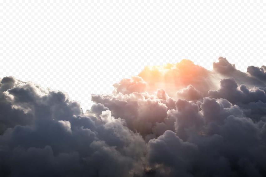HD Black Clouds Smoke Sun Rays Transparent PNG