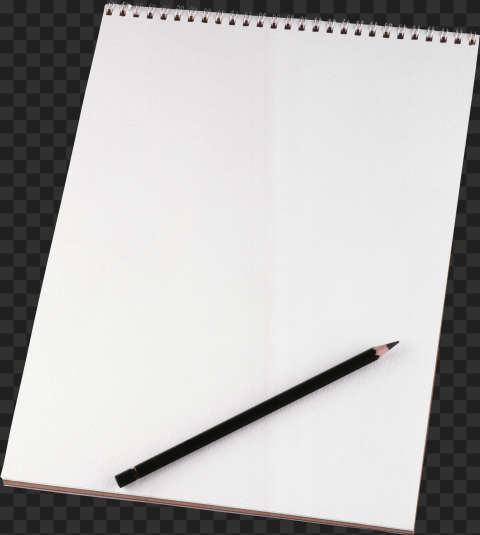 HD Black Pencil with Drawing Pad PNG