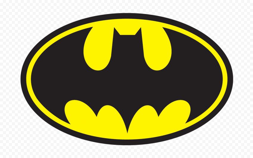HD Black & Yellow Batman Official Logo PNG