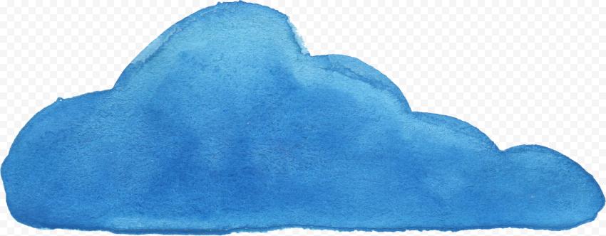HD Blue Brush Watercolor Cloud PNG