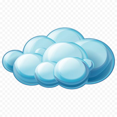 HD Blue Cartoon Cloud Illustration PNG
