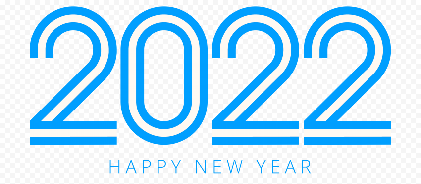 HD Blue Happy New Year 2022 PNG