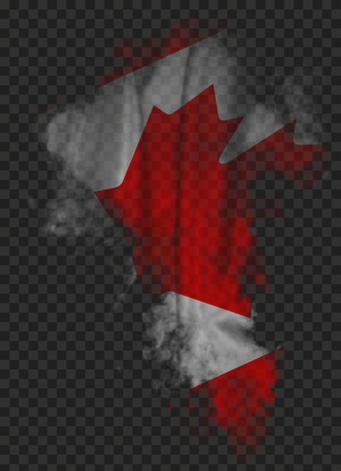 HD Canada CA Flag Smoke PNG
