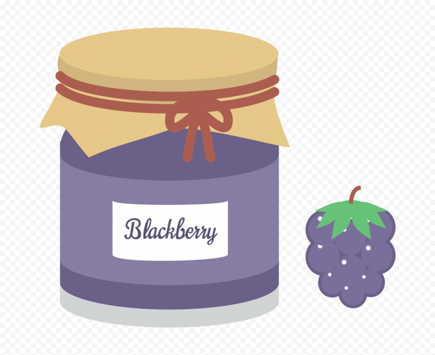 HD Cartoon Blackberry Marmalade Jam Jar PNG