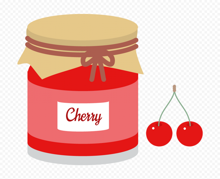 HD Cartoon Cherry Marmalade Jam Jar PNG