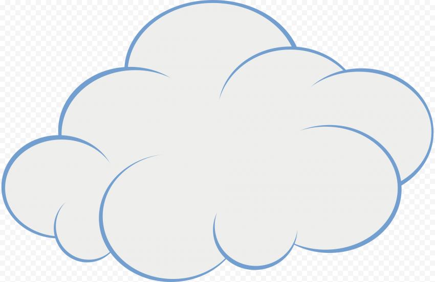 HD Cartoon Clipart Cloud Transparent Background