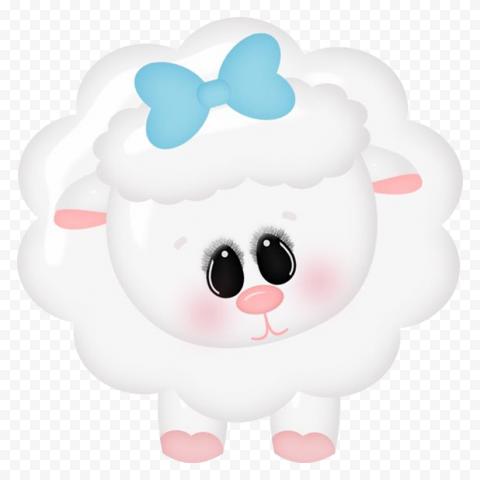 HD Cartoon Cute Sheep Animal Character PNG
