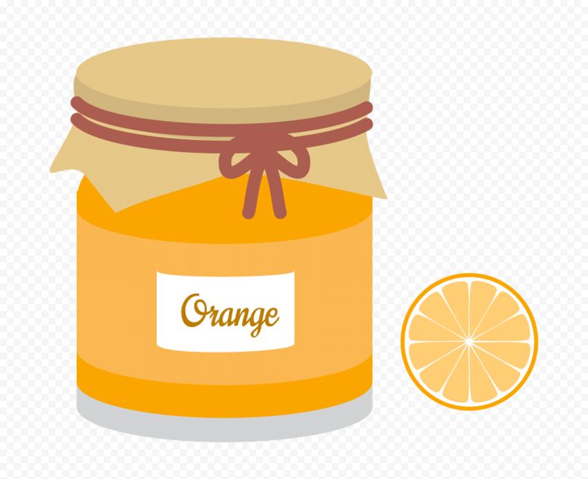HD Cartoon Orange Marmalade Jam Jar PNG