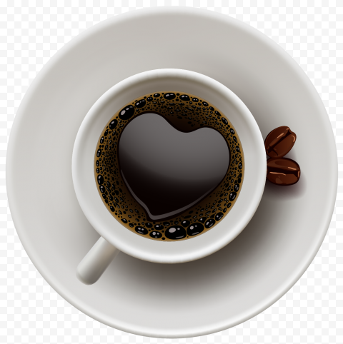HD Coffee Tea Cup Glass Top View PNG