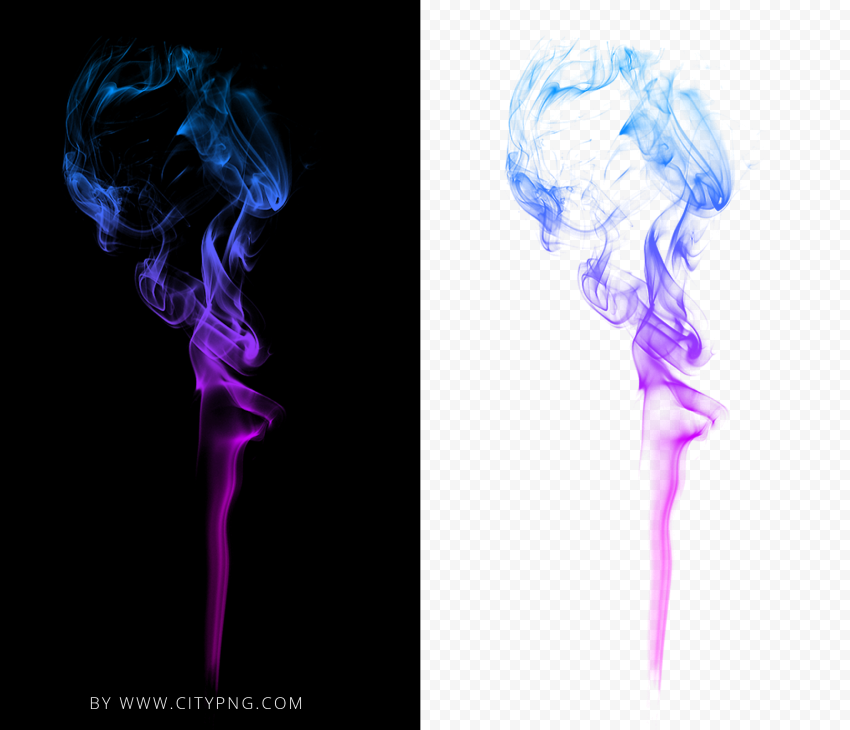 HD Colored Cigarette Smoke PNG