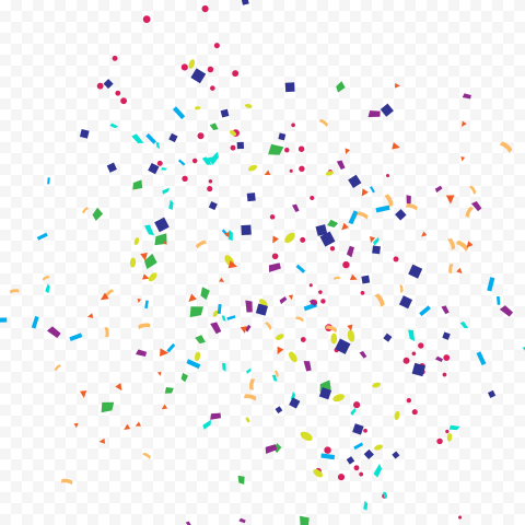 HD Colorful Confetti Birthday Party Decoration PNG