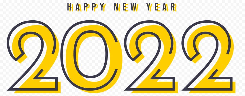 HD Creative Flat Happy New Year 2022 PNG