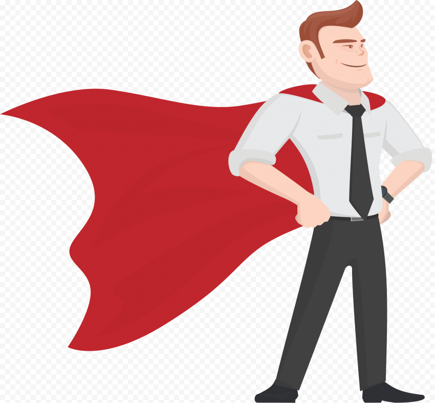 HD Dad Superman Super Father Cartoon Character PNG