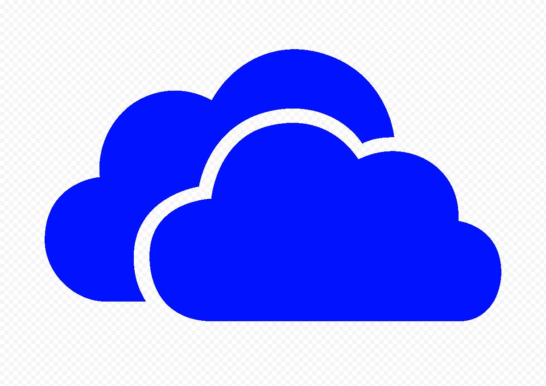 HD Dark Blue Storage Host Clouds Icon PNG