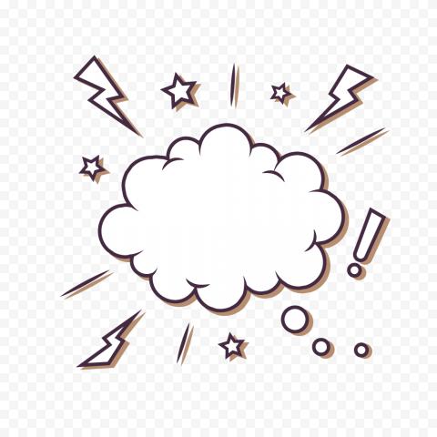 HD Empty Comic Speech Cloud Bubble PNG