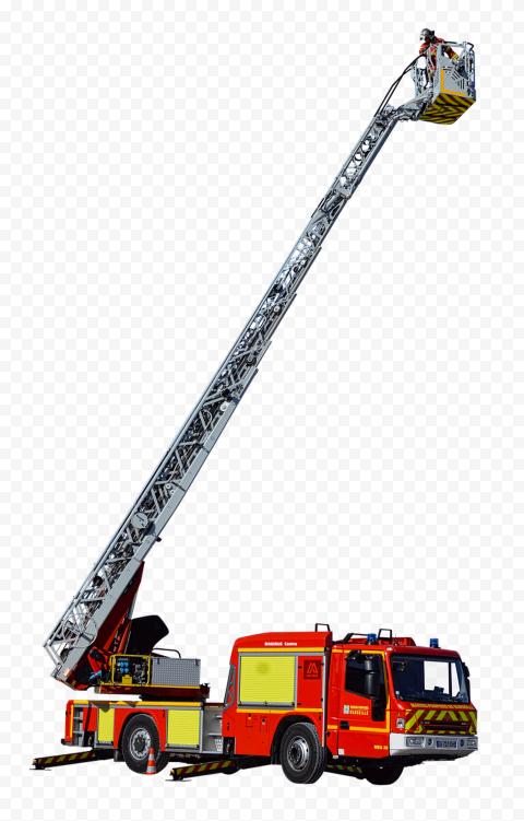 HD Fire Firefighter Truck Ladder PNG