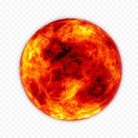 HD Fire Moon Circle Flame PNG