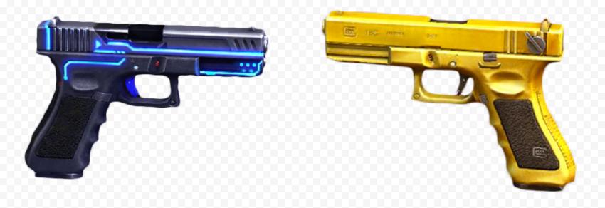 HD G18 Free Fire Gun Skin Transparent PNG