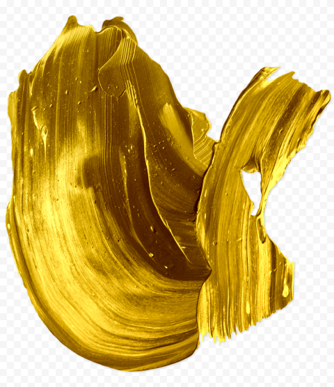 HD Gold Yellow Real Brush Stroke PNG