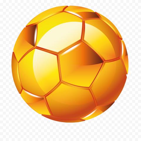 HD Golden Gold Yellow Football Ball PNG