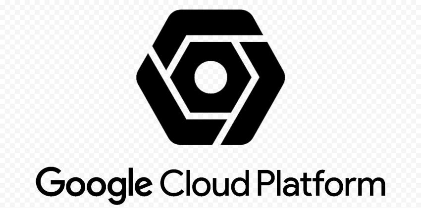 HD Google Cloud Platform Black Logo PNG