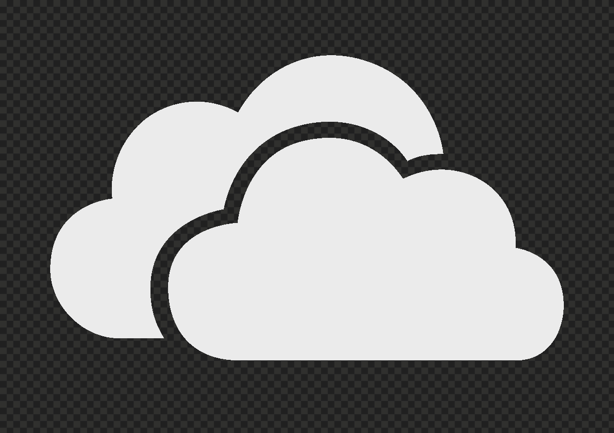 HD Gray Storage Host Clouds Icon PNG