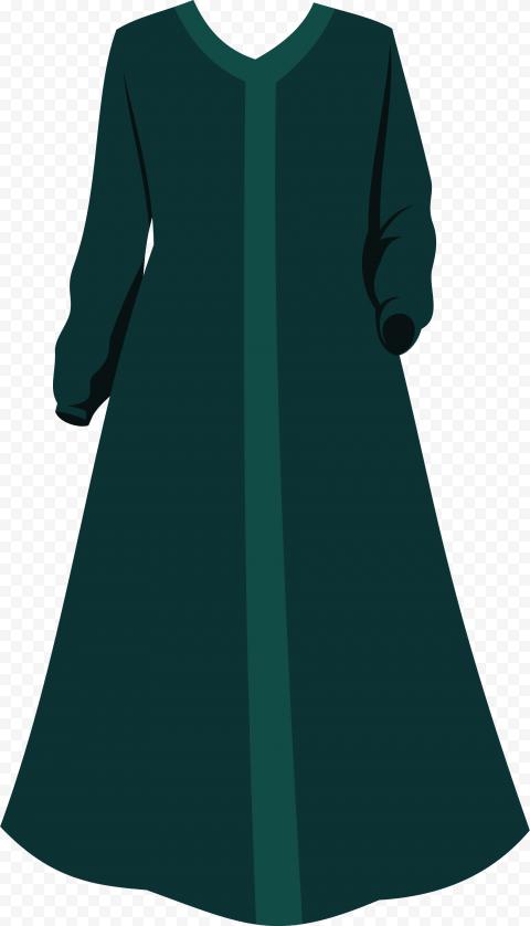 HD Green Arabic Islamic Dress Cloth PNG