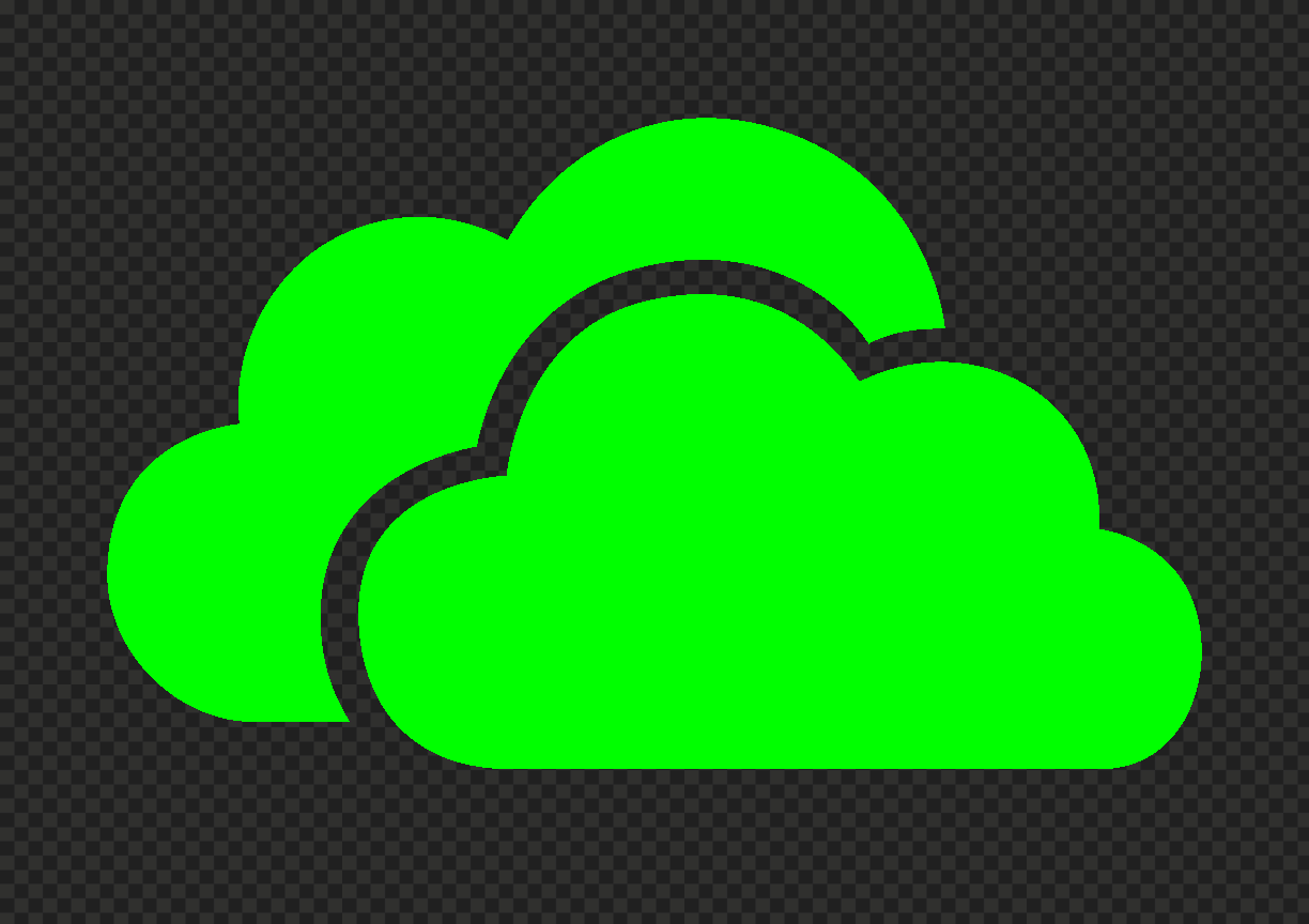 HD Green Lime Storage Host Clouds Icon PNG