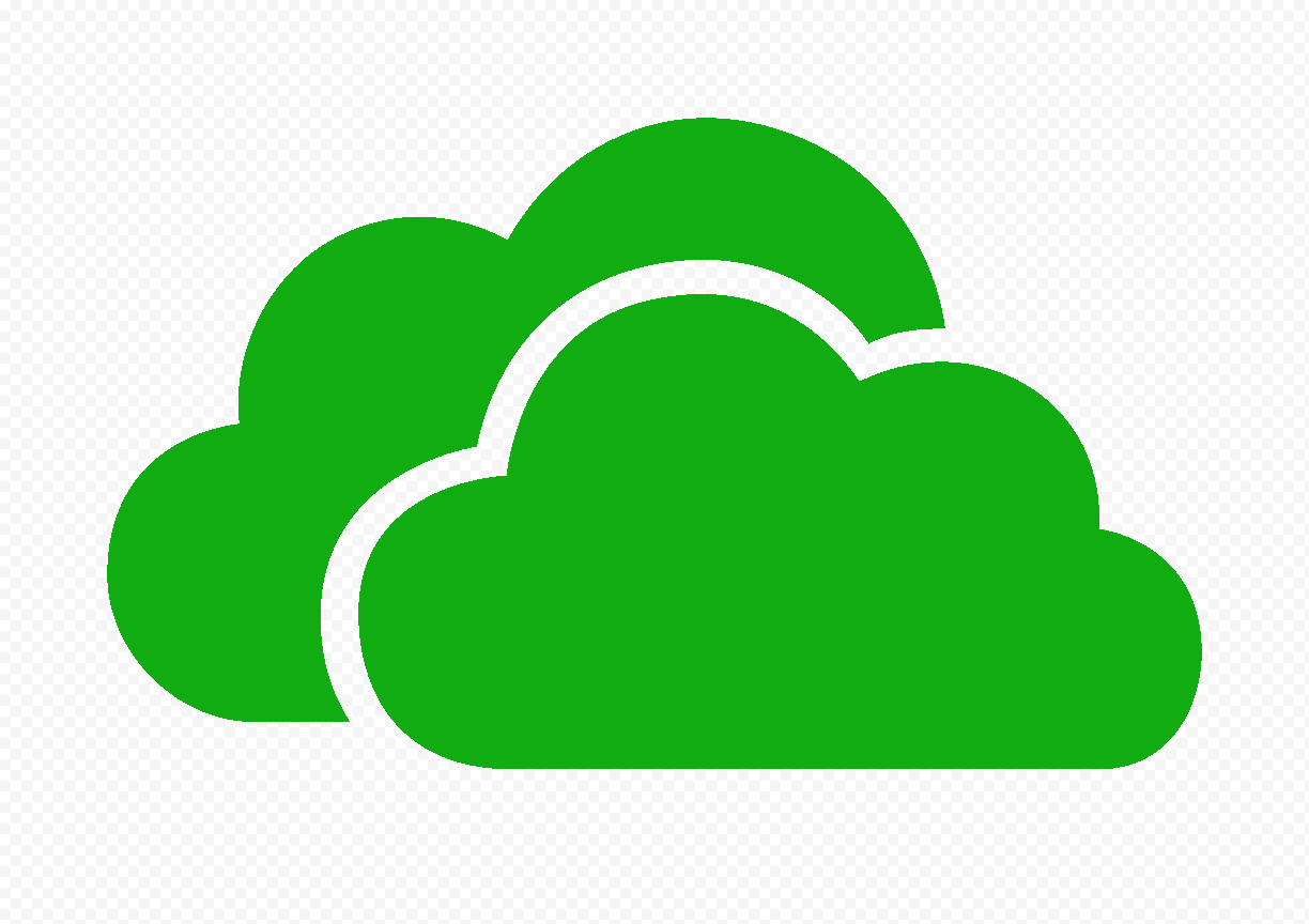 HD Green Storage Host Clouds Icon PNG