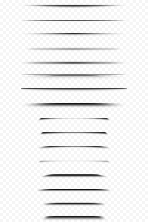 HD Group Of Black Shadow Lines Paper Effect PNG