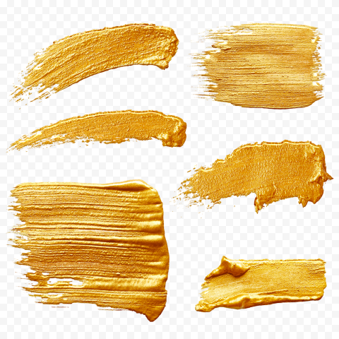 HD Group Of Gold Brush Strokes PNG