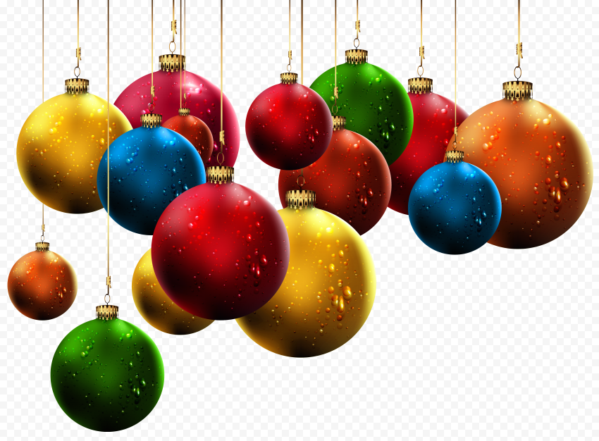 HD Hanging Christmas Ornament Decoration PNG