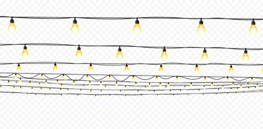 HD Hanging Street Decorative Light Bulbs PNG