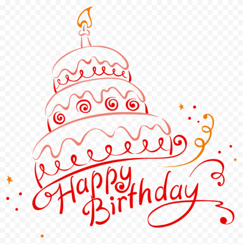 HD Happy Birthday Cake Creative Vector Design PNG