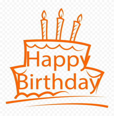 HD Happy Birthday Orange Logo PNG