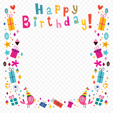 HD Happy Birthday Poster Frame Transparent PNG