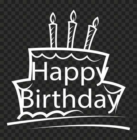 HD Happy Birthday White Logo Transparent PNG
