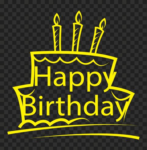 HD Happy Birthday Yellow Logo PNG