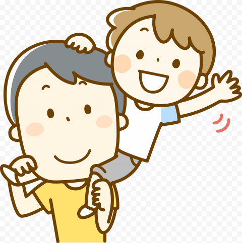 HD Happy Cartoon Father And Son PNG