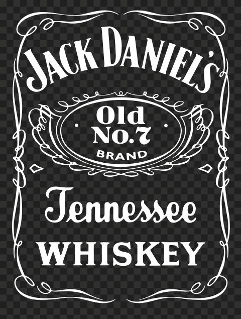 HD Jack Daniel's White Logo PNG
