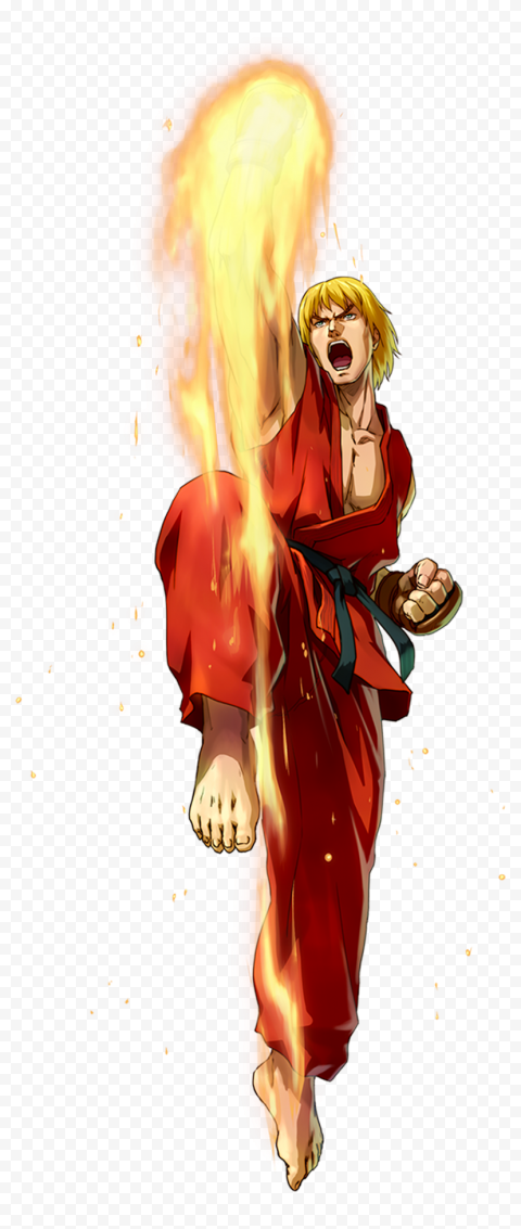 HD Ken Masters Hadouken Street Fighter PNG